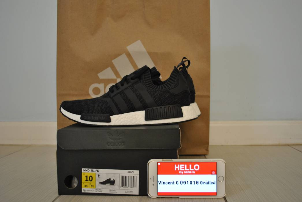 cb3fa19717304 Adidas NMD R1 PK Primeknit Black WOOL Size 10 - Low-Top Sneakers for ...