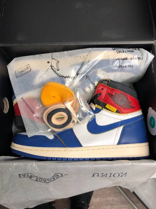 Nike Nike Jordan 1 x Union LA Storm Blue Size 9 - Hi-Top Sneakers ... 66c548172