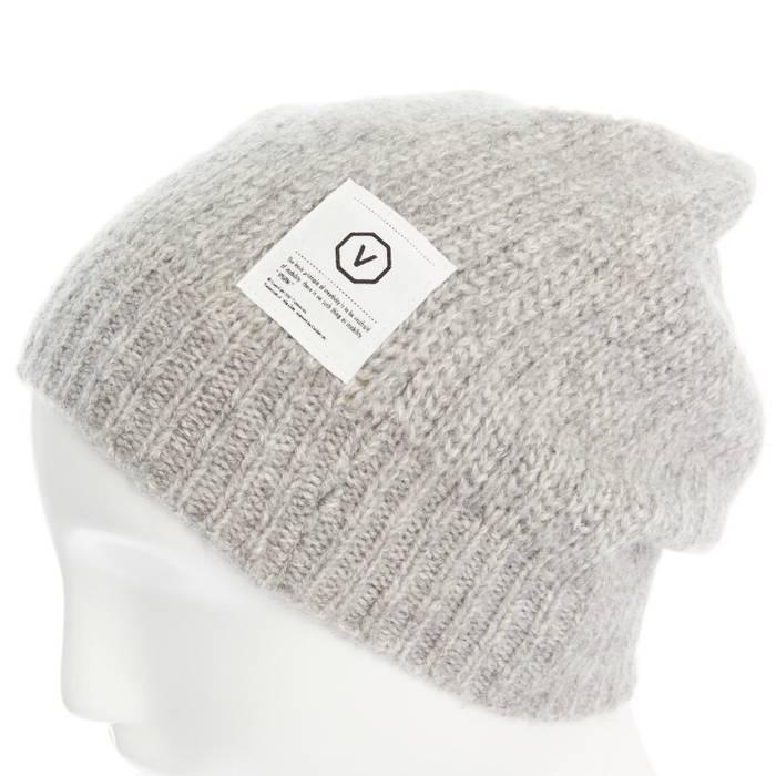 Visvim VISVIM 100% cashmere light grey logo patch ribbed knitted beanie hat  Size ONE SIZE db5803dc3be0