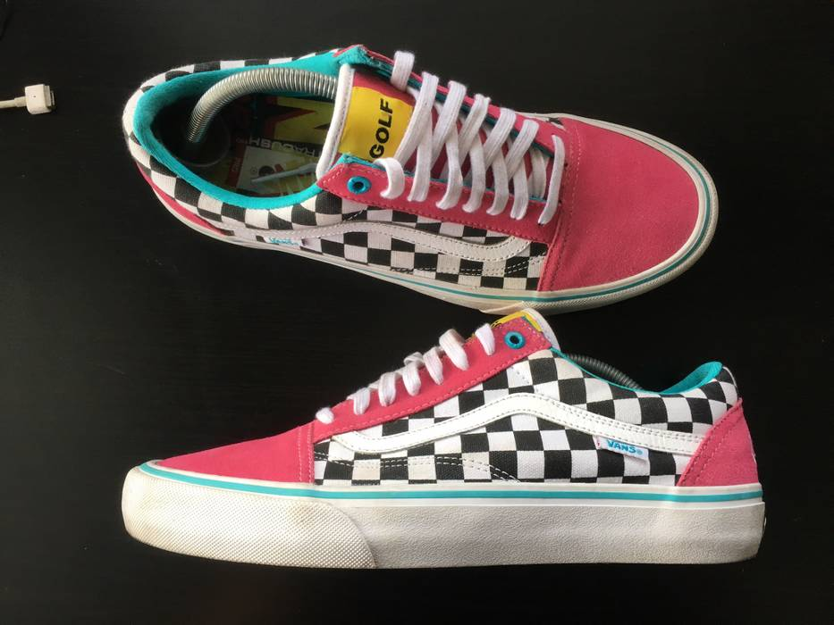 199794e5373d25 Vans Final Drop! Old School Checkered Vans Sneakers Shoes Golf Wang Pink  Size US 10.5