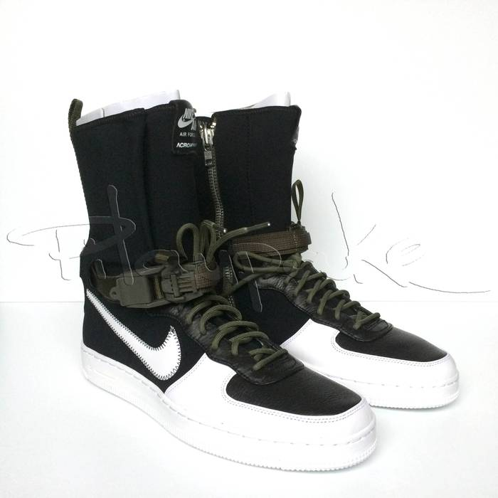 8ffe21f12dfaa9 Nike Nike NikeLab x Acronym Air Force 1 Downtown Hi SP black white medium  olive