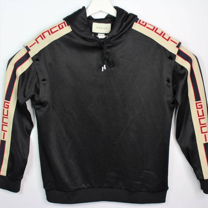 0df68dcc90b Gucci. Authentic Men s Gucci Technical Jersey Sweatshirt Hoodie (Removable  Sleeves) Size Medium