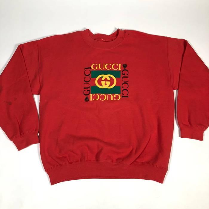 cd07c252c61 Vintage Vintage BL custom Gucci peach pink crewneck graphic sweatshirt    Men s boxy fit Size US