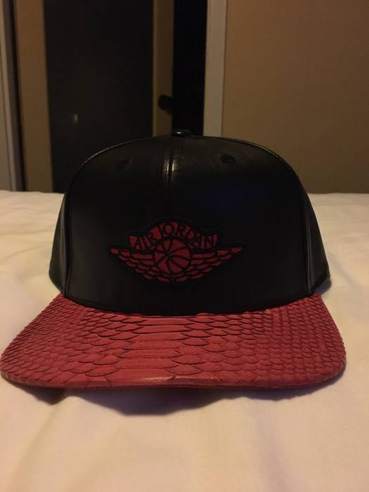 83c5e9a5397636 Jordan Brand Just Don X Jordan Wings All Star NYC Exclusive Leather Hat  Size ONE SIZE