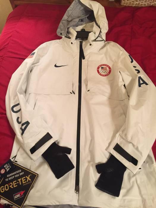 0e12c3ba2f01 Nike Nike NikeLab Olympic Team USA Medal Stand White GoreTex Jacket ...