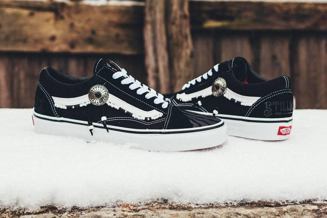 7795a868592 Vans BLACK TRACE STLLLV x VANS Old Skool Low Custom by Myroslav Fareniuk  Size US 10
