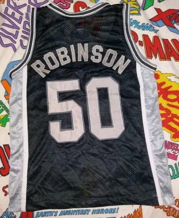 Champion RARE VINTAGE DAVID ROBINSON NBA SPURS JERSEY BY SPALDING VINTAGE  ROBINSON JERSEY Size US M 730cf2e17