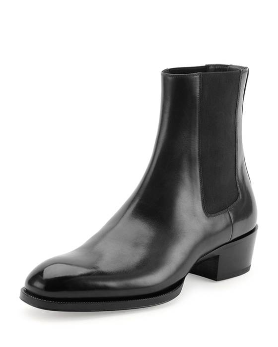 a84e88a6e75 Tom Ford  1890 Black Chelsea Boots with Western Heel Size 10 - Boots ...