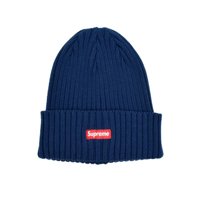 e804fe0b19d Supreme Navy Box Logo Beanie DS Size one size - Hats for Sale - Grailed