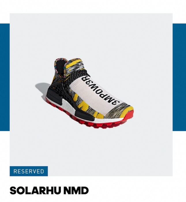 cabb645b8 Adidas Adidas NMD Hu Pharrell Solar Pack Red Size 10 - Low-Top ...