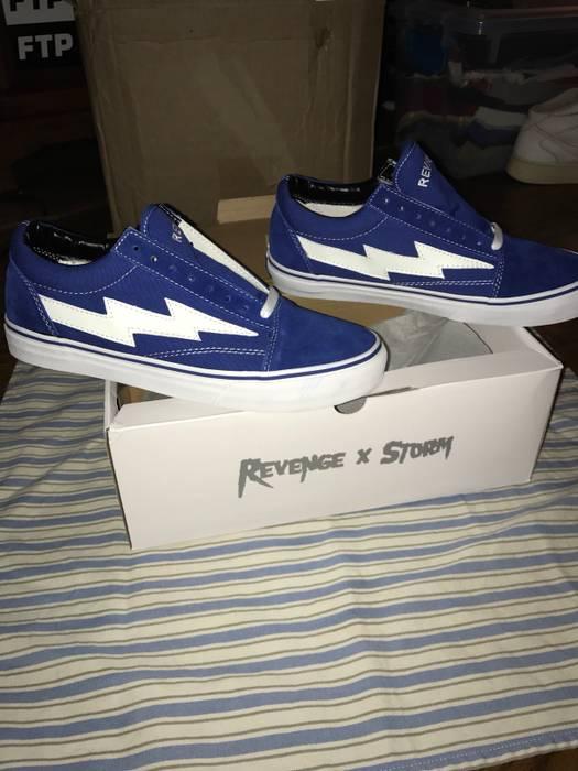 c26b59cda4f Revenge X Storm. Revenge X Storm Ian Connor Lightning Bolt Vans Sneakers  Shoes BLUE