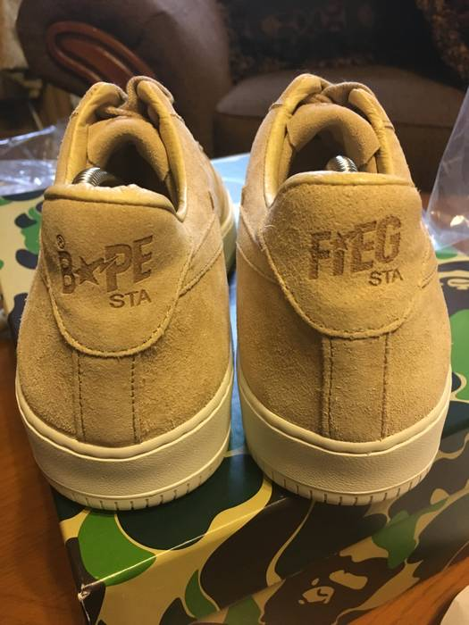 e0415800999b Bape A Bathing Ape Bapesta Ronnie Fieg Fiegsta Sand Size 8 - Low-Top ...