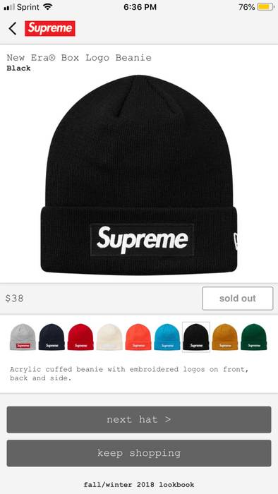 cf326f0259e Supreme Supreme New Era Box Logo Beanie Black Size one size - Hats ...