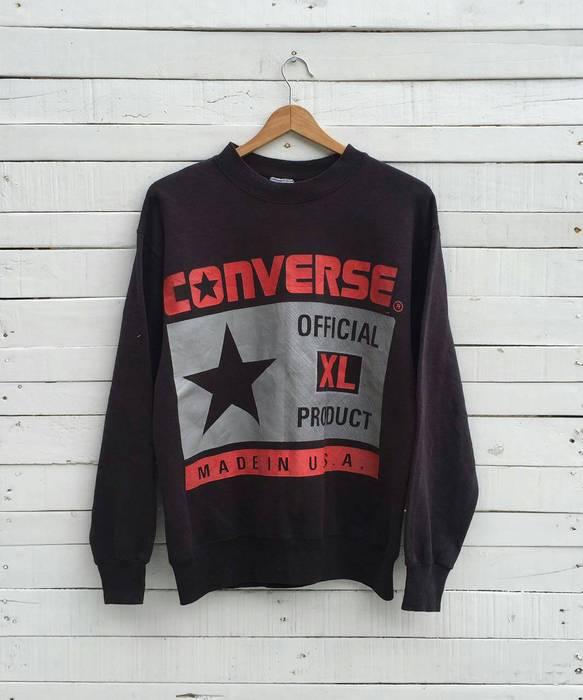 1b1e49e3a1f9 Converse Vintage 80 s CONVERSE OFFICIAL PRODUCT Black Sweatshirt Skate  Crewneck Hoodie Jumper Jacket Sweater M Made