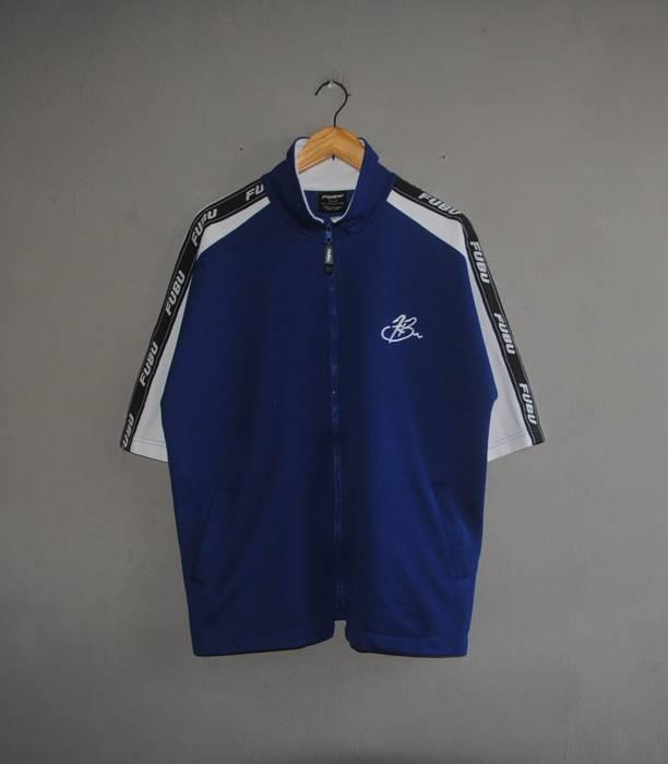 Fubu Vintage FUBU Sport Zipper Jersey shirt size Large   1990s Side tape  Jersey Streetwear   fe1cff9a84b
