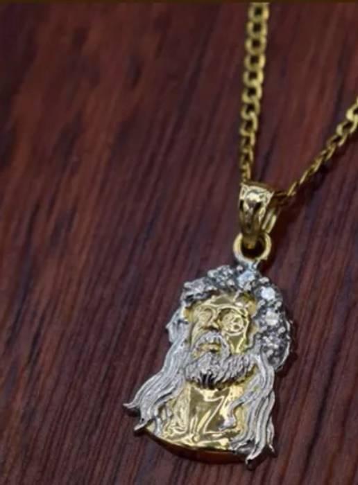 f171333a6507 Gold Chain 14 karat solid gold Jesus piece Size one size - Jewelry ...