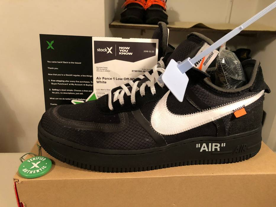 Nike Off White Air Force 1 Black Size 13 - Low-Top Sneakers for Sale ... 9658414e4166