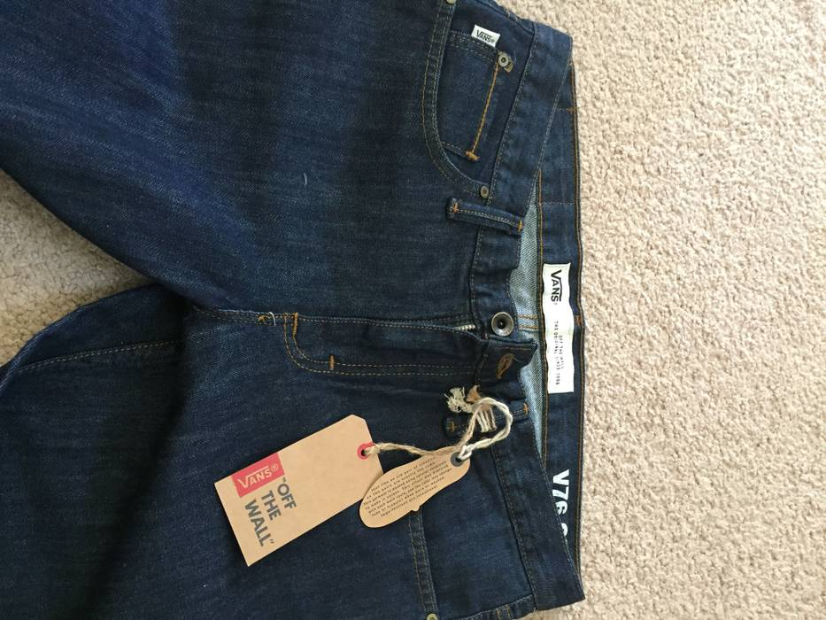 fb670f3975 Vans V46 Cone Mills raw indigo jeans Size 28 - Denim for Sale - Grailed