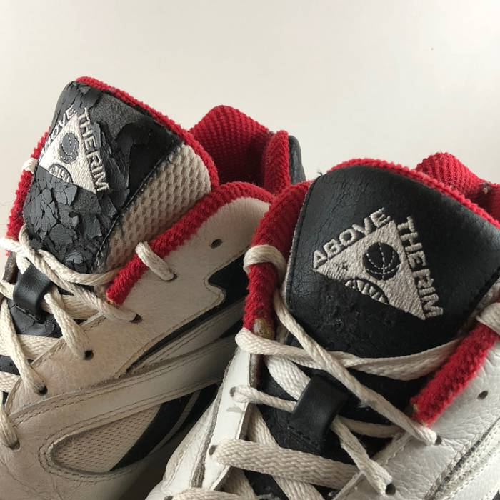2bb211d34c8b60 Vintage Vintage 90s Reebok Above the Rim White Black Leather Basketball  Sneakers Size 8 Size US
