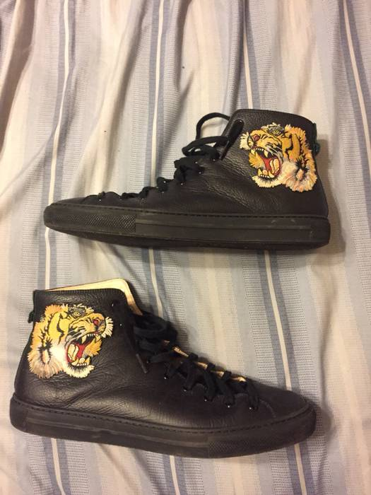 5199a1ca80a Gucci Gucci Leather High Top Tiger Size 10 - Hi-Top Sneakers for ...