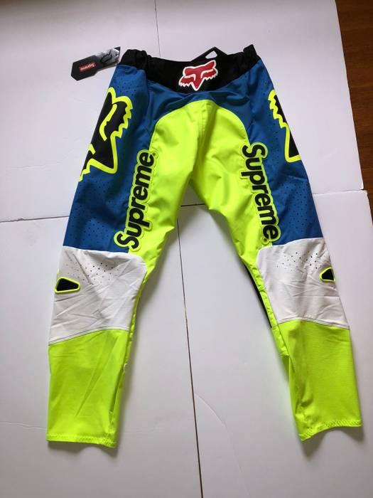 Supreme Fox Racing Bmx Motocross Pants Moto Pant Green Blue Er Multicolor Size Us 32