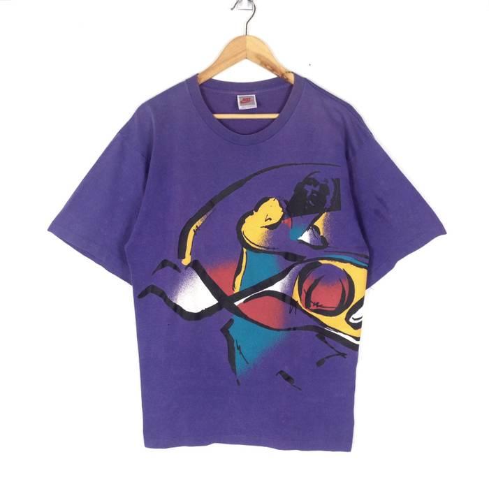 95e17ce770b1 Nike Vintage Nike Grey Tag Nike Air Jordan T-shirt Size l - Short ...