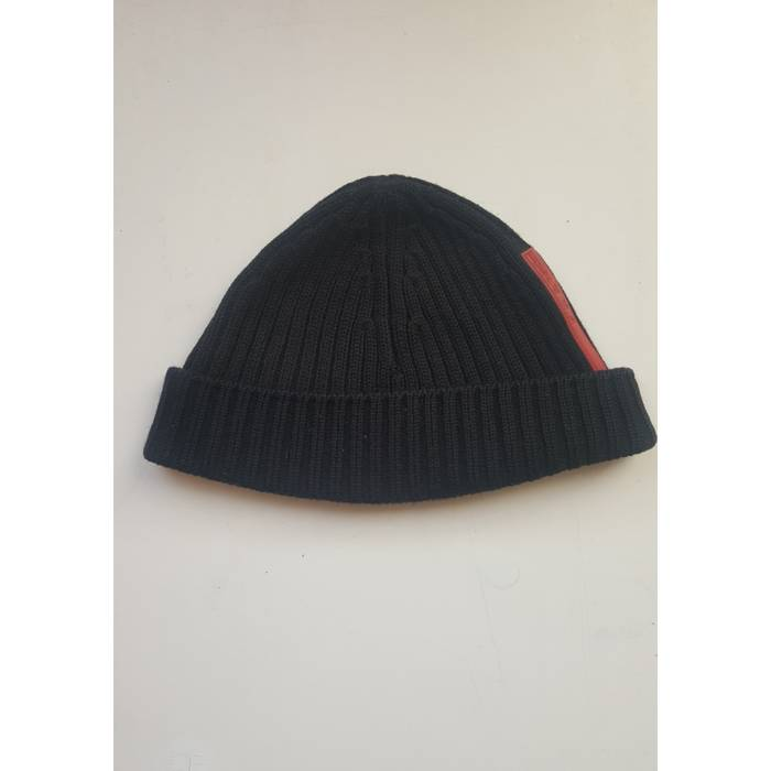 Prada Ribbed Wool Black Beanie Hat Size one size - Hats for Sale ... 85d436e9ecf