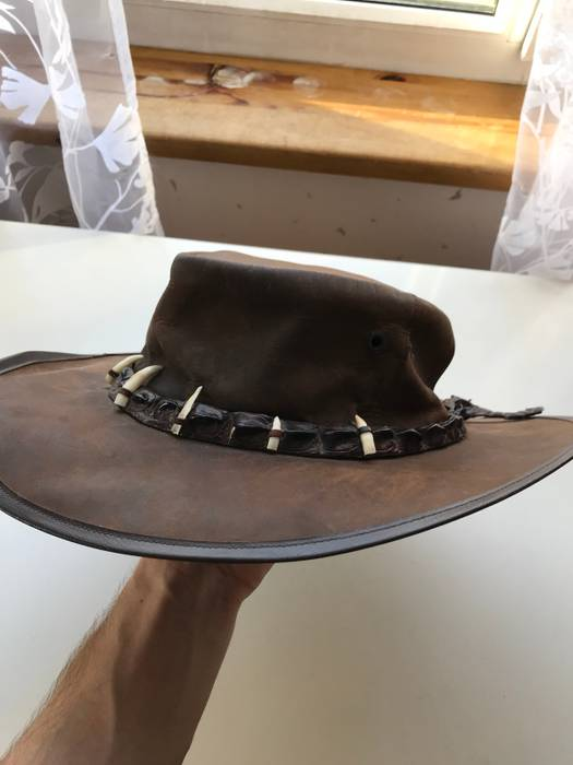 Vintage Vintage Crocodile Leather Teeth Suede Cowboy Hat Brown Size ONE SIZE ff3caa10c4c