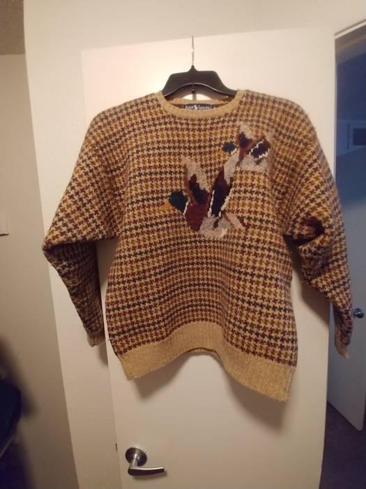 d488ea14b Polo Ralph Lauren. Vintage 80s Polo Ralph Lauren Sportsman Duck Knit Sweater  ...