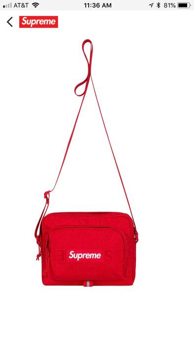 Supreme Red supreme shoulder bag SS19 Size one size - Bags   Luggage ... 865818f65e86a