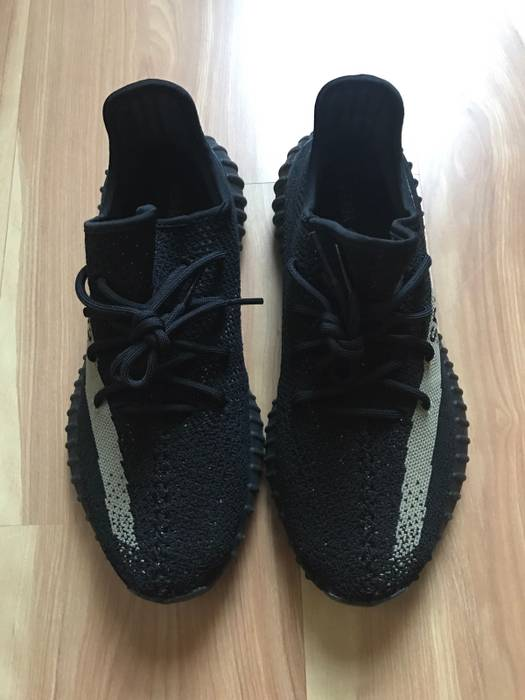 7b859723ff94c Adidas Kanye West Yeezy Boost 350 V2 Black Friday Black Green Size US 9.5