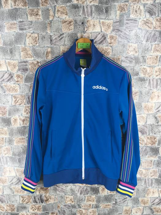 21cb7a590a3c Adidas ADIDAS Track Top Ladies Jacket Small Vintage 90 s Adidas Blue  Training Running Sport Girl Jacket