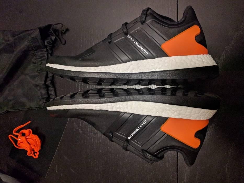 Adidas Y-3 Black Pureboost ZG Sneakers Shoes Black Orange Size US 8.5   EU 49b5db044