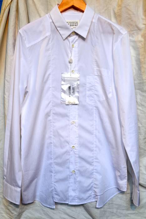 79544020ad Maison Margiela White Patchwork Shirt Size m - Shirts (Button Ups ...