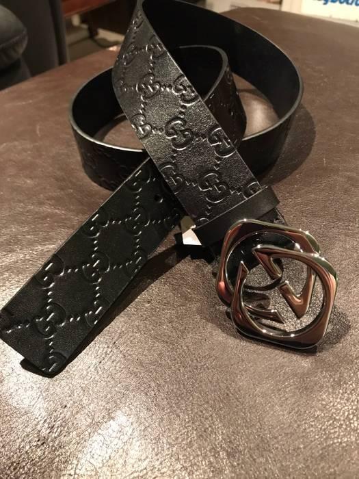 356f8bf84c7 Gucci Gucci Interlocking Square G Black Guccissima Supreme Size 90cm 29-32  Size 30 -