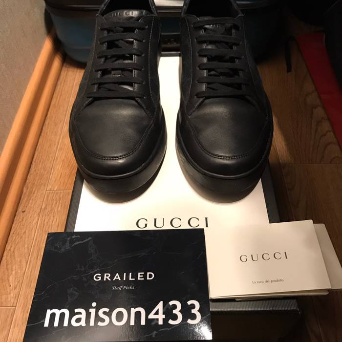 ed7311c19bf Gucci Gucci Sneakers Common Gg Supreme Guccissima Black Low Top Authentic  10G 11 US Size US