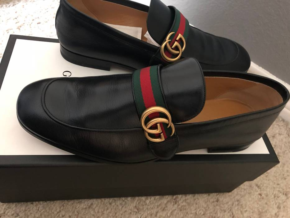 32bd4f3a363 Gucci Leather loafer with GG Web Size 10.5 - Formal Shoes for Sale ...