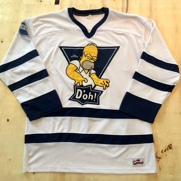 Vintage Y2k The Simpsons Hockey Jersey Size xl - Jerseys for Sale ... 7c1195b28b9