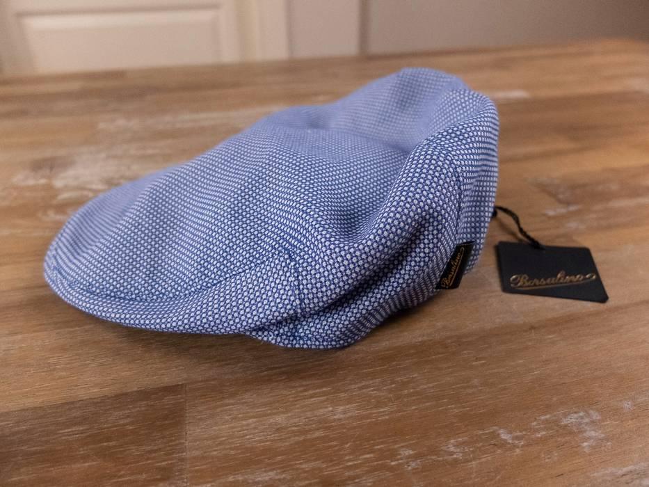 Borsalino BORSALINO blue linen cotton mix flat cap authentic - Size ... 0ed8e93d2a5f