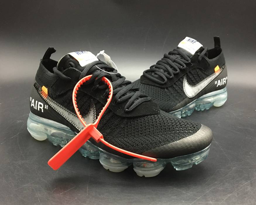 f29f2db72d1de Nike 2018 Off-White x Nike Air VaporMax Black Total Crimson-Clear Size US