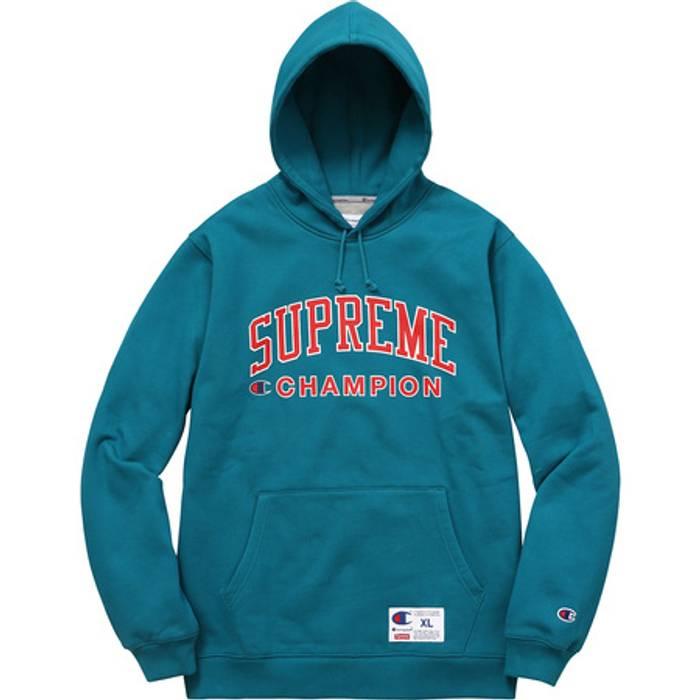 8d024b7a0a71 Supreme Supreme X Champion Hoodie (Teal) Size xl - Sweatshirts ...