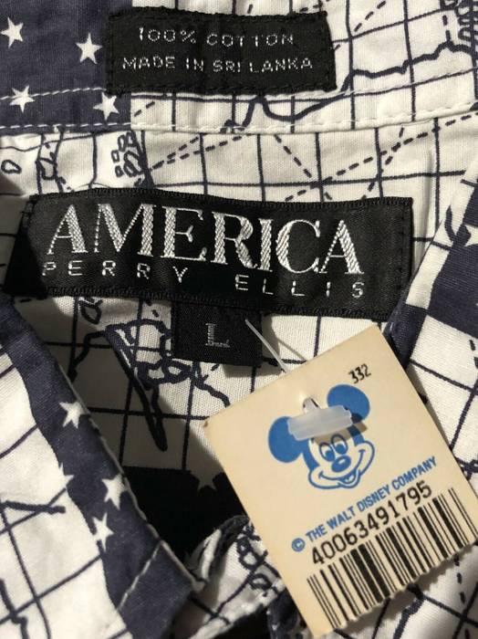 5f5ec159fb Vintage Vintage AMERICA Perry Ellis Flight Map Shirt Disney XXL Size US XXL    EU 58
