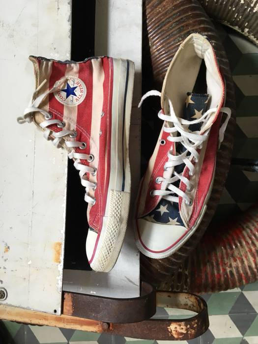 45acbeadfe36 Converse 90s Converse USA Flag Shoes (Made In USA) Size 9.5 - Hi-Top ...
