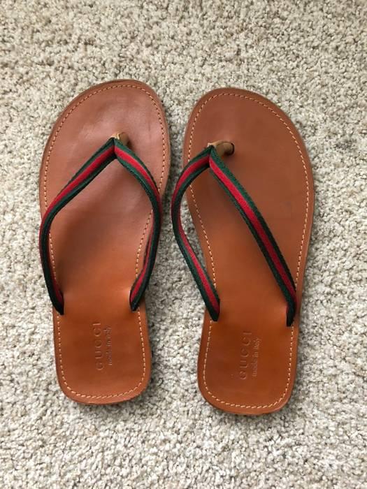0286f818d7ef Gucci Brown Leather Flip Flops Sandals Size 11 - Sandals for Sale ...