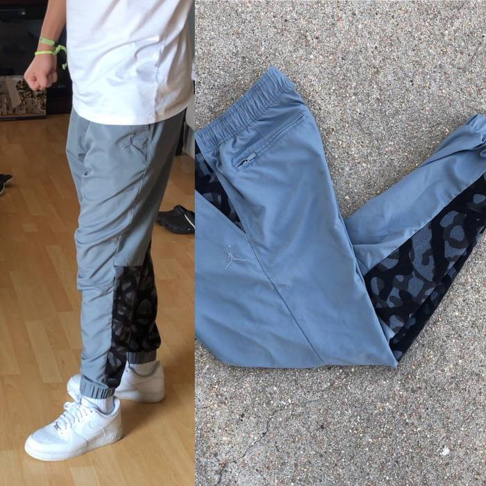 c0408e2e548704 Travis Scott Large Grey Camo Jordan Sweatpants Jogger Cuff Taper Fit Track  Pants Size US 32