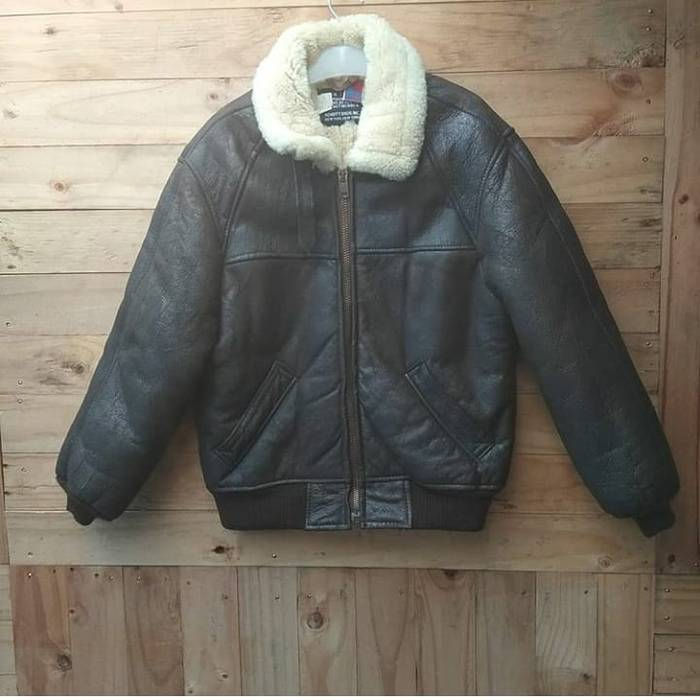 9dc2705e95c Leather Jacket SCHOTT NYC LEATHER TYPE B6 SHEEPSKINS FLIGHT JACKET Size US  S   EU 44