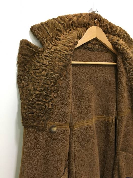 6a6d88c21d Sheepskin Coat Stephen Made In Italy Deerskin Leather Shearling Coat Jacket  Fur Collar Size US L