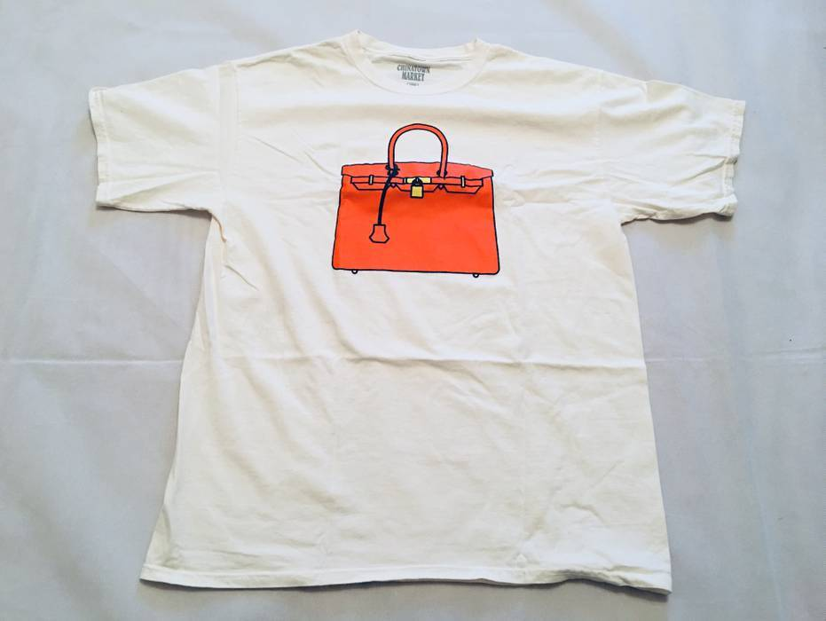 a53bc5be8a Hermes Chinatown Market x The Hundreds Birkin  Bag T-shirt White Color  Large Size