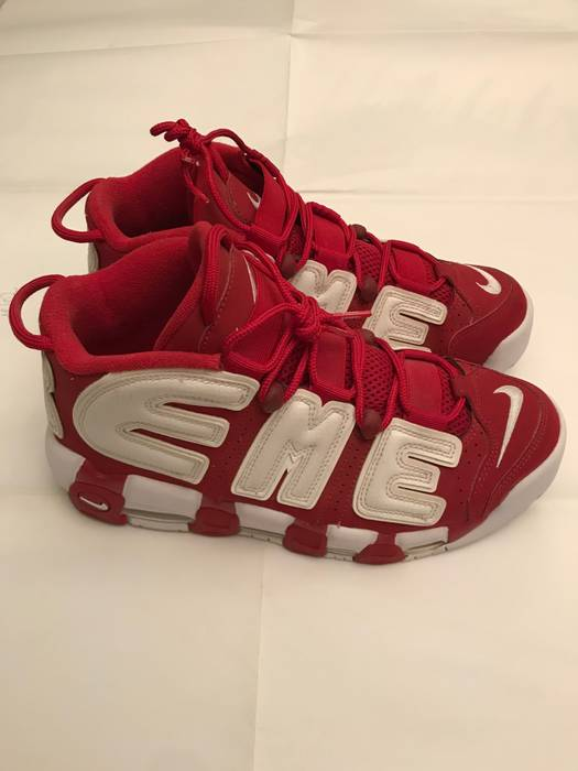 5bbc603881bf Supreme Supreme X Nike Air More Uptempo Red Sz 8