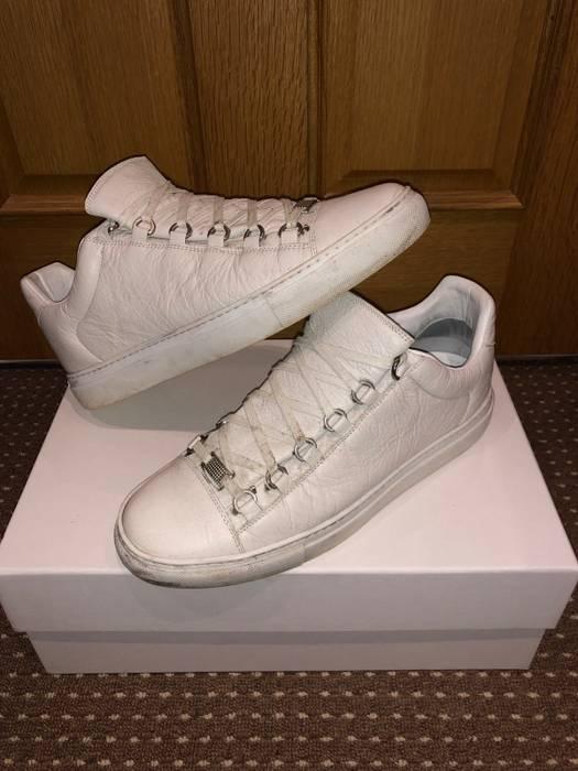 34222ef66267 Balenciaga Balenciaga Arena Low Top Off White Leather Sneaker Size ...